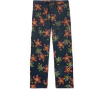 Floral-Print Cotton Pyjama Trousers