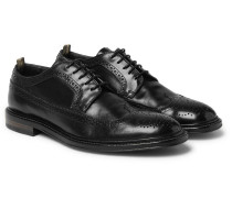 Cornell Polished-leather Wingtip Brogues - Black