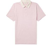 Danbury Striped Mélange Cotton-Jersey Polo Shirt