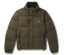 Aviation Quilted Cotton-Canvas Down Jacket