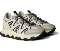 Lightning Leather Sneakers - Gray