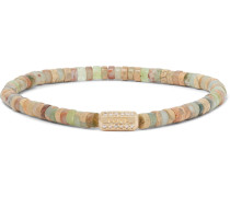 Bead, Gold and Diamond Bracelet