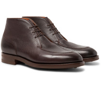 Halifax Cross-grain Leather Chukka Boots