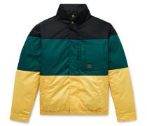 + Woolrich Colour-Block Cotton-Twill Down Jacket