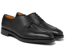 Dover Textured-leather Derby Shoes - Black
