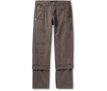Buckled Cotton-Canvas Trousers