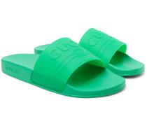 Logo-embossed Rubber Slides
