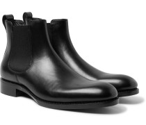 Walter Leather Chelsea Boots - Black