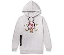 + ICECREAM Oversized Printed Loopback Cotton-Jersey Hoodie