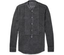 Kos Grandad-collar Linen Shirt