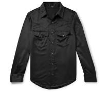 Slim-Fit Satin Western Shirt