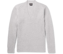 Slim-fit Ribbed-knit Sweater