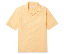 Harlow Camp-collar Cotton Shirt - Yellow