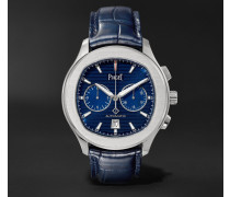 Polo S Automatic 42mm Stainless Steel And Alligator Watch - Blue