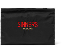 Sinners Embroidered Canvas Pouch