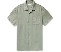 Jake Camp-Collar Linen Shirt