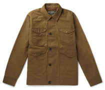 Waxed-cotton Jacket - Brown