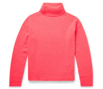 Nyran Brushed Wool and Cashmere-Blend Rollneck Sweater
