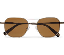 D-frame Gunmetal-tone Sunglasses - Gunmetal