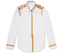 Printed Cotton-poplin Shirt - White