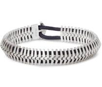 Klink Sterling Silver And Cord Bracelet