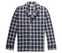 Lowell Checked Cotton-poplin Pyjama Shirt