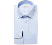 Light-blue Slim-fit Cotton Shirt