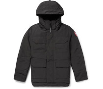 Maitland Shell Hooded Down Parka - Black