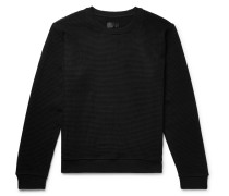 Mesh And Loopback Cotton-jersey Sweatshirt