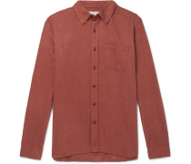 Brushed Organic Cotton-flannel Shirt - Red