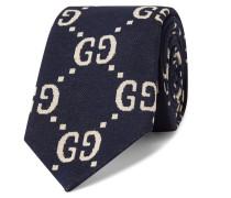 8.5cm Logo-jacquard Cotton Tie
