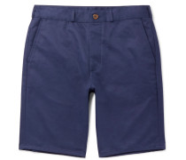Cotton-twill Chino Shorts - Navy