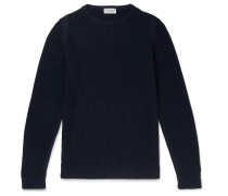 8 Singular Honeycomb-knit Merino Wool Sweater - Navy