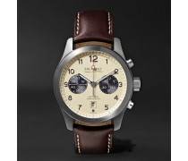 ALT1-Classic/CR Automatic Chronograph 43mm Stainless Steel and Leather Watch, Ref. No. ALT1-C/CR