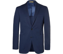 Navy Slim-fit Stretch-cotton Suit Jacket