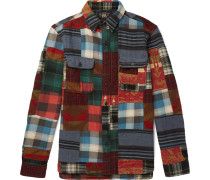 Matlock Patchwork Cotton And Wool-blend Flannel Shirt - Multi