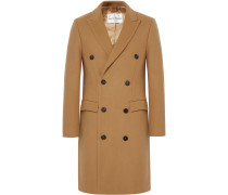 Ives Double-breasted Wool-blend Overcoat - Sand