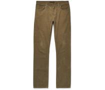 Grim Tim Sim-fit Organic Stretch-velvet Jeans - Green