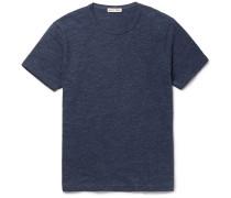 Slim-fit Mélange Slub Cotton-jersey T-shirt