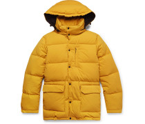 Quilted Nylon Hooded Down Jacket