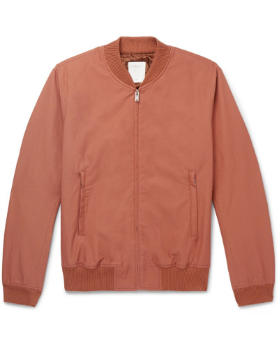 Monaco Cotton-blend Twill Bomber Jacket - Pink
