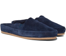 Suede Backless Loafers