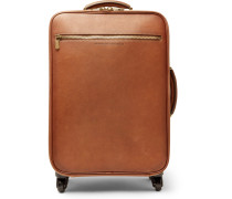 Burnished Full-grain Leather Carry-on Suitcase