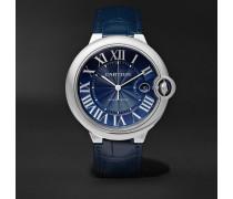Ballon Bleu De Cartier Automatic 42mm Steel And Alligator Watch