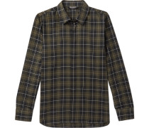 Embellished Checked Cotton Shirt