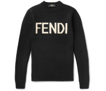 Logo-intarsia Wool Sweater