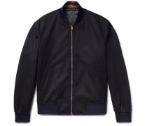 Slim-fit Wool And Cashmere-blend Bomber Jacket