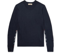 Check-panelled Merino Wool Sweater