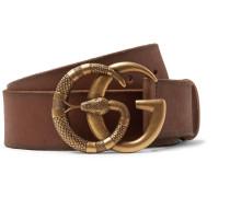 4cm Tan Burnished-leather Belt