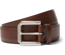 3cm Brown Leather Belt - Tan